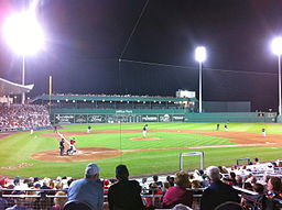 "A Yankee-Red Sox spring training game at ""Fenway Park South"" in 2012. By NT1952 (Own work) [CC BY-SA 3.0 (http://creativecommons.org/licenses/by-sa/3.0)], via Wikimedia Commons"