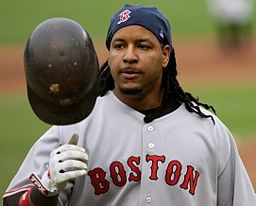 The mysterious Manny Ramirez, circa 2008. By Keith Allison (Flickr) [CC BY-SA 2.0 (http://creativecommons.org/licenses/by-sa/2.0)], via Wikimedia Commons