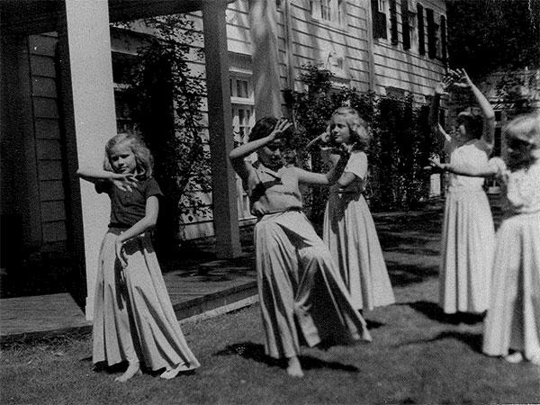 Liza Ketchum dancing in Vermont