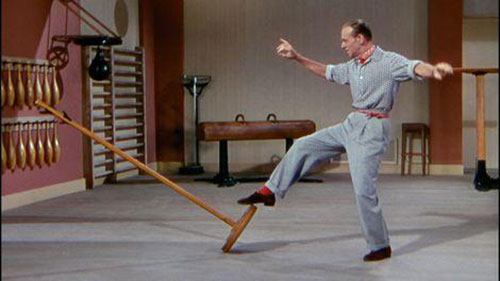 Fred Astaire, dancing in Royal Wedding