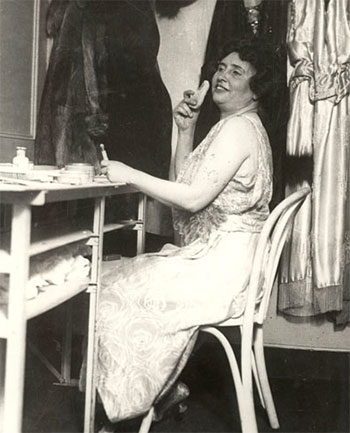 Helen Keller on vaudeville stage
